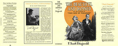 Fitzgerald THE BEAUTIFUL and DAMNED facsimile jacket for 1st ed/early (NO BOOK)