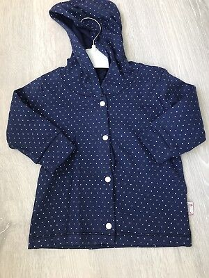 UK SELLER Baby Girl Polka Dot Navy Blue Cardigan 6-12 Months Clothes Outfit
