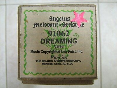 Angelus Melodant Piano Music Roll #91062 Dreaming; Valse; Puccini