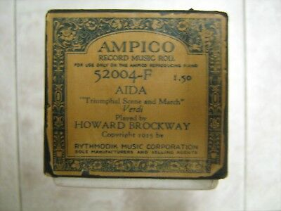 "Ampico Piano Music Roll #52004-F Aida ""Triumphal Scene and March"" Verdi"