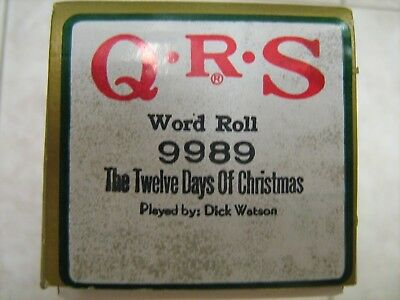 Q.R.S. Piano Music Roll #9989 The Twelve Days of Christmas