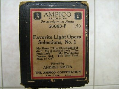 Ampico Piano Music Roll #56063-F Favorite Light Opera Selections No. 1