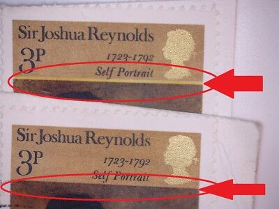 2 GB ERROR/VARIETY USED 3p COMMEM JOSHUA SG931 1973 STAMPS BEIGE STRIP THICK/THI