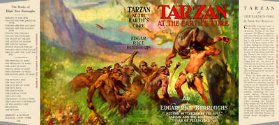 Edgar Rice Burroughs TARZAN AT THE EARTH'S CORE fac. jacket for 1st Grosset ed