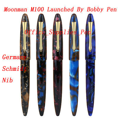 Bobby Launch MoonMan M100 Fountain Pen SCHMIDT Nib Resin Pen Converter Pen