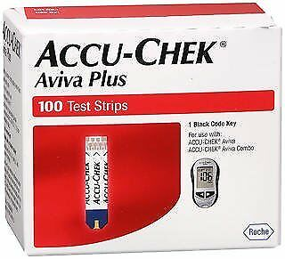 Accu-Chek Aviva Plus Test Strips -100 ct, Pack of 4