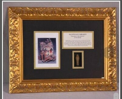 Egyptian Ushabti 26th Dynasty 7 Century BC beautifully framed Authentic