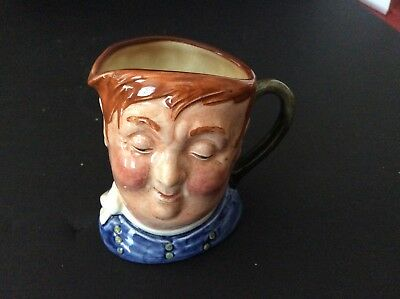 "Vintage Toby Mug FAT BOY 3 1/4"" Tall Royal Doulton England 1950s/1960s"
