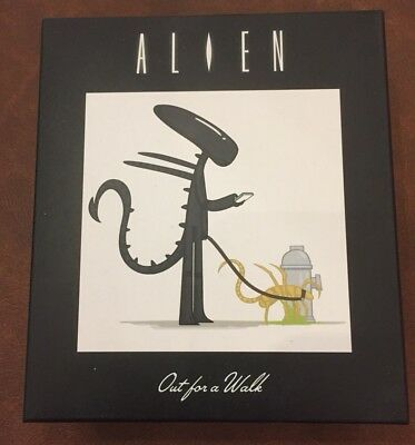 Loot Crate Exclusive Alien Out for a Walk Artist Series Figure, Bandana & pin