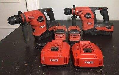 Hilti TE 30 A36 36V Li-Ion Rotary Hammer Drill 2 sets with chargers 4 Batteries