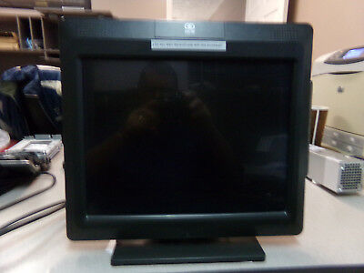 "NCR 5965-1014-9090 15"" Retail POS System Touch Screen Monitor w/ Cables + stand"