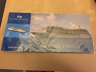 Pacific Princess Souvenir Pin with Postcard - Princess Cruise Lines - Love Boat