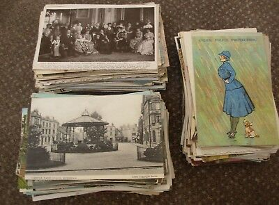 Collection Of 350 X Vintage Postcards Mostly British Intriguing Lot