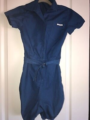 Vintage Gym Suit Womens 1940''s 50's Blue Its A Moore Brand