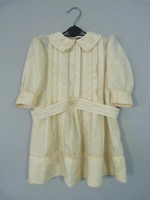 Antique Edwardian child's dress in embroidered silk - great for a large doll