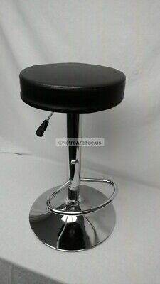 Arcade stool adjustable chair for upright style arcade games, Midway, Black