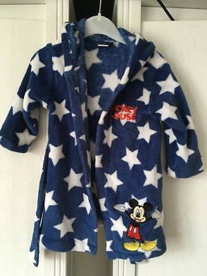 Baby Boys Hooded Dressing Gown / Robe DISNEY BABY MICKEY MOUSE 9-12m