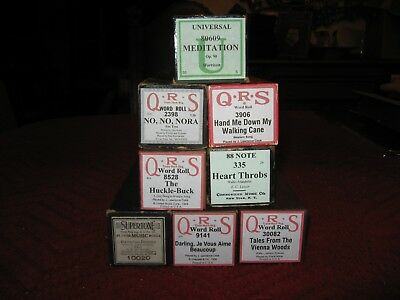 A Neat Group of 88 Note, QRS, Supertone & Universal Player Piano Rolls