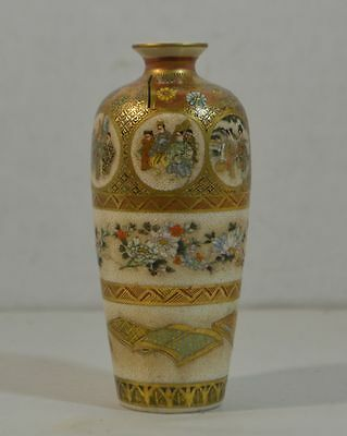 Antique Japanese Satsuma Pottery Miniature Vase