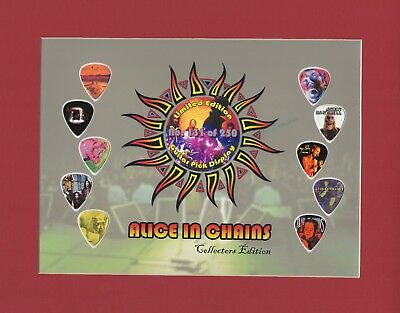 Alice In Chains Matted Picture Guitar Pick Set Limited Number May Vary