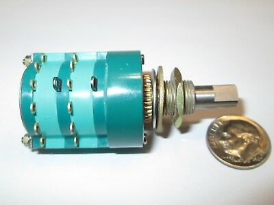 ASM / ELECTROSWITCH 4 POLE- 6 POSITION ENCLOSED ROTARY SWITCH 2.5 Amps  NOS 1 PC