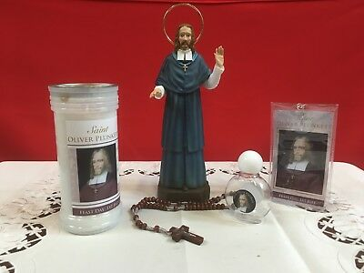 St. Oliver Plunkett Set (Statue, Candle, Rosary, Holy Water Bottle, Prayer Card)