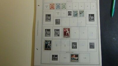 Latvia Stamp collection on Minkus album pages w/ 2-300 or so