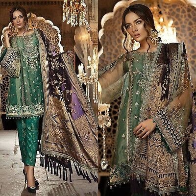 Maria B Pakistani Designer Suit Wedding Dress Bridal Collection shalwar Kameez