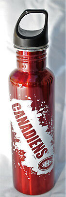 Montreal Canadiens 26-Ounce Screw Top Stainless Steel Water Bottle