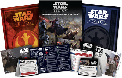 Star Wars Legion Launch Kit - Brand New - All 3 Promo Posters and more!