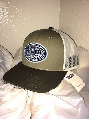 VERY RARE NEW W TAGS Patagonia Ratitude Mesh Hat Beige   Green   White   3155f835f57b