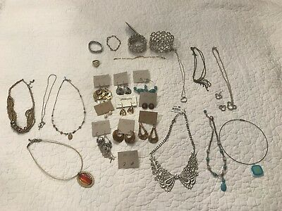 Lot of Mixed Vintage/Modern Costume Fashion Jewelry 27 Pieces