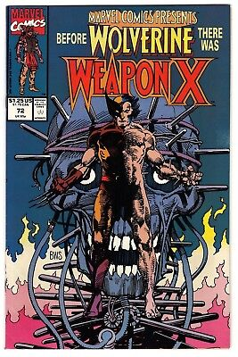 Marvel Comics Presents #72 VF- (1991, Marvel) Weapon X Origin of Wolverine. Key