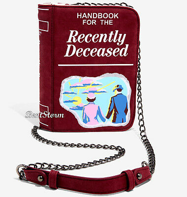 Beetlejuice Handbook For The Recently Deceased Crossbody Clutch Purse Bag NWT