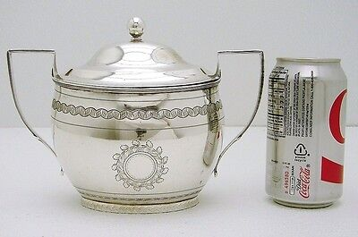 Early American Coin Silver Sugar Tureen Marked J & P Targee  New York NY C1808