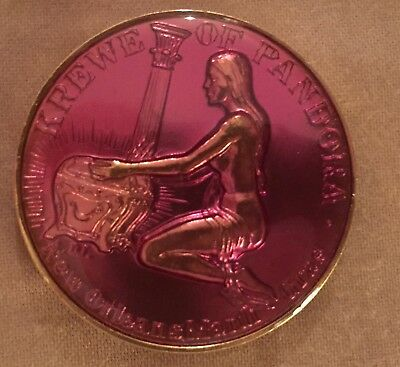 Pandora Laminated 1973 Mardi Gras Doubloon Coin New Orleans Vintage  Rare
