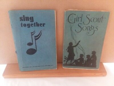 Vintage Girl Scouts Song Books (2) From Estate