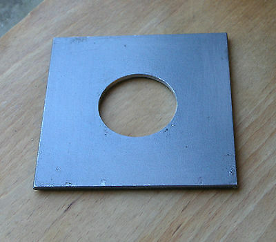 "Calumet 4x4"" metal  lens board panel with copal 1 hole 105822 modified"
