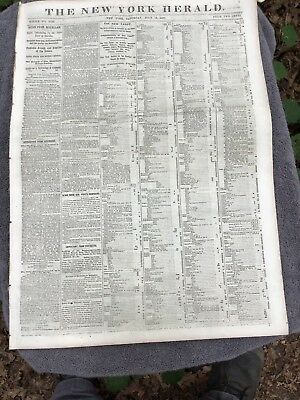 Civil War Date Newspaper. July 12, 1862
