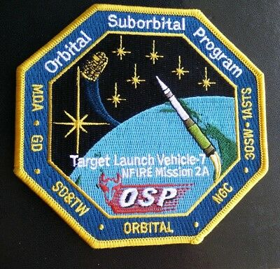 Original USAF 30SW 1ASTS Northrop Minotaur TLV-7 NFIRE 2A Mission Launch Patch