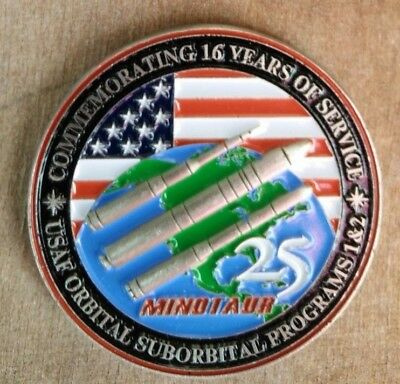 Orig USAF 1ASTS Northrop Orbital Suborbital Program1&2 Minotaur 25 Mission Coin