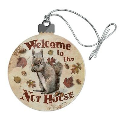Welcome to Nut House Crazy Acrylic Christmas Tree Holiday Ornament