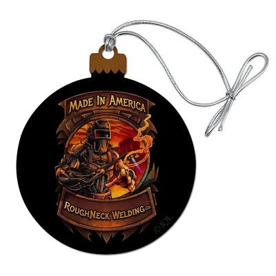 Welding Welder Made In America Wood Christmas Tree Holiday Ornament