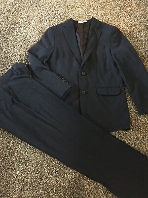 Boys Navy Blue Suit Size 12 Izod Modern