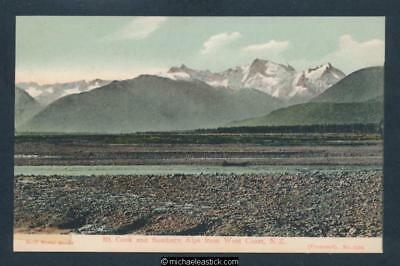 New Zealand Mt. Cook And Southern Alps From West Coast Postcard