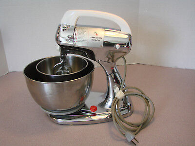 Vtg 1938 Hamilton Beach Chrome Stand Mixer Model K Tested Works Great 10 Speed