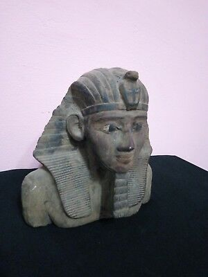 VINTAGE ANCIENT EGYPTIAN STATUE Stone Pharaoh King Ramesses Ii 1279-1213 Bce