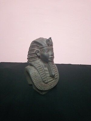 ANCIENT EGYPTIAN STATUE PHARAOH KING TUT MASK TUTANKHAMUN Stone BC