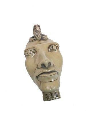 RARE ANTIQUE ANCIENT EGYPTIAN Statue King Akhenaten Akhnaton Mask 1353 Bce