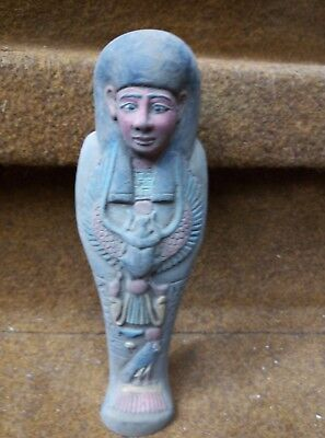 RARE ANCIENT EGYPTIAN ANTIQUE Egypt Statue of Ushabti Shabti Kingdom 600 Bc
